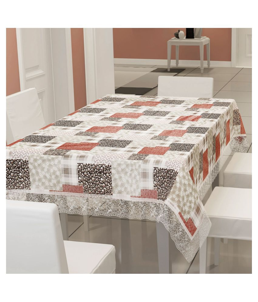 E-Retailer 8 Seater PVC Single Table Cover & Napkins