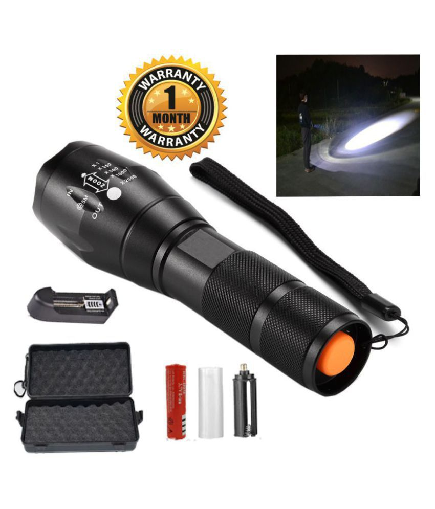 UC 12W Flashlight Torch 5 Mode Waterproof - Pack of 1