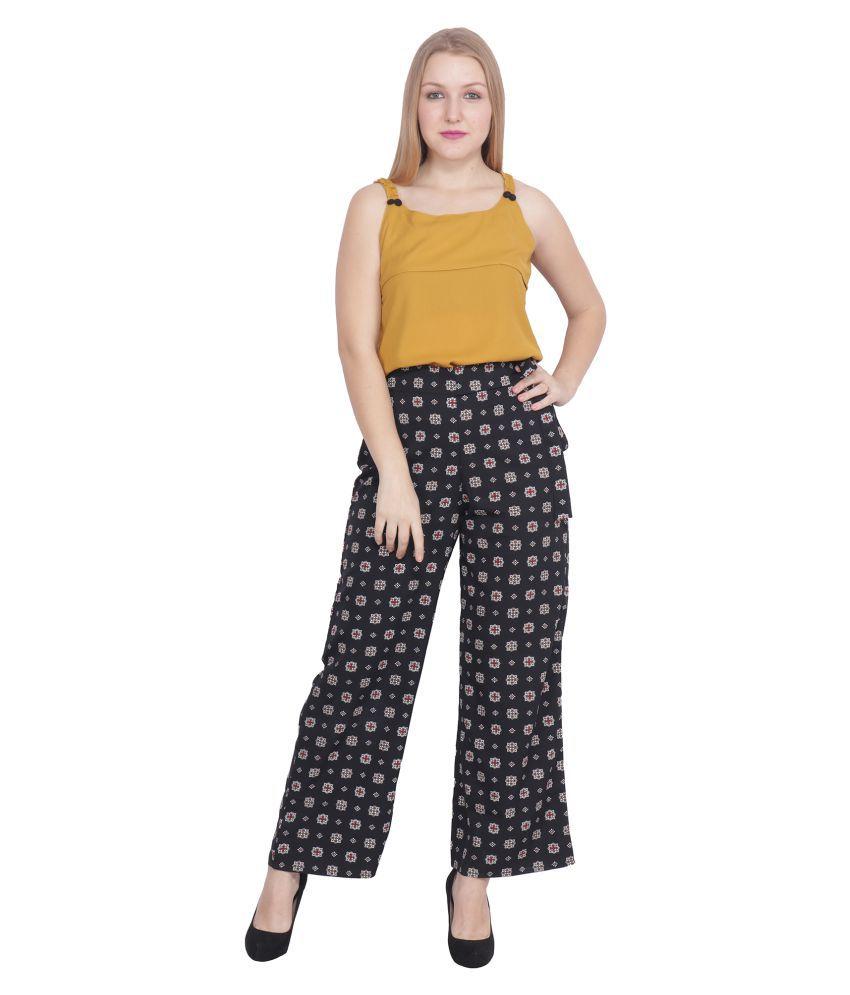 POPWINGS Black Polyester Jumpsuit