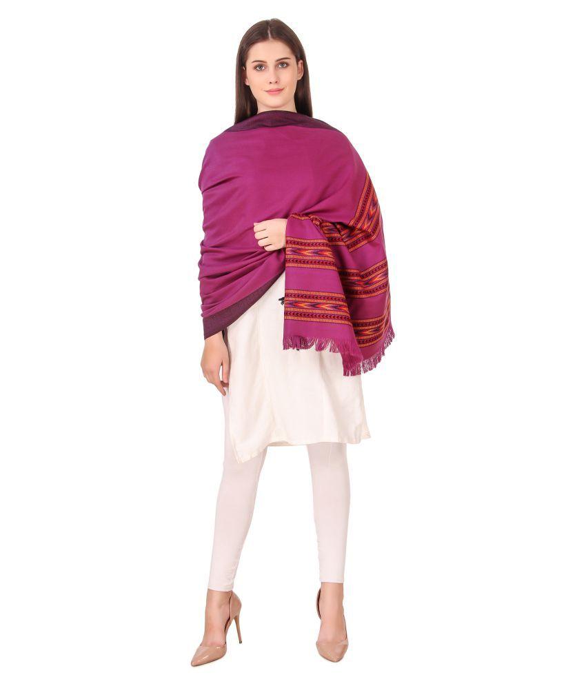 Bravezi Purple Kashmiri Shawl