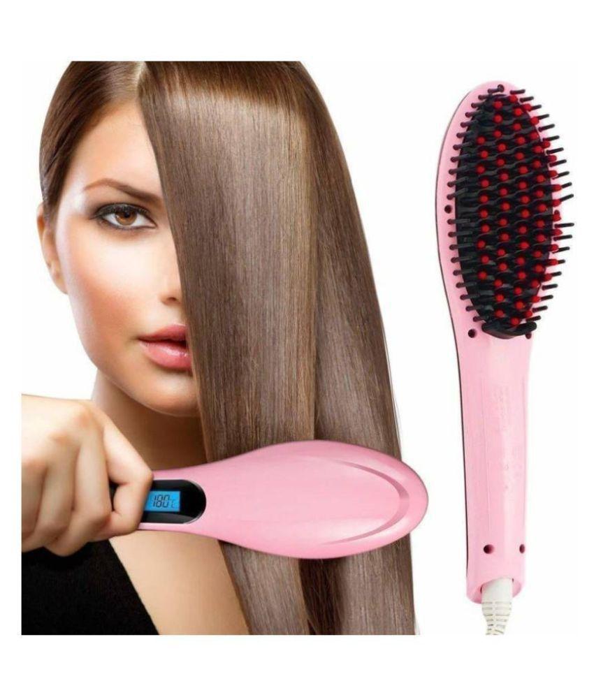 SBA Fast Hair Comb Hair Straightener ( Pink )