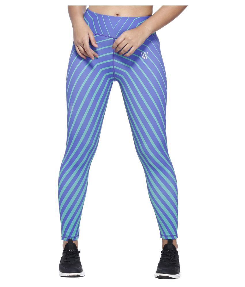 Vixenwrap Blue Nylon Printed Tights