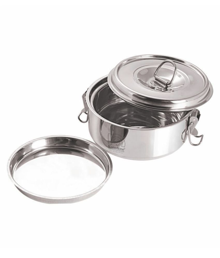 NanoNine Clip-On Steel Food Container Set of 1 350 mL