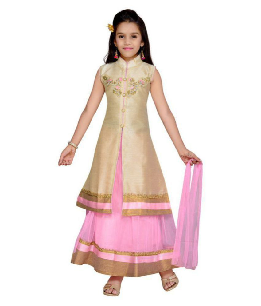 Kidling Kids Party Wear Lehenga Choli Set  For Girls