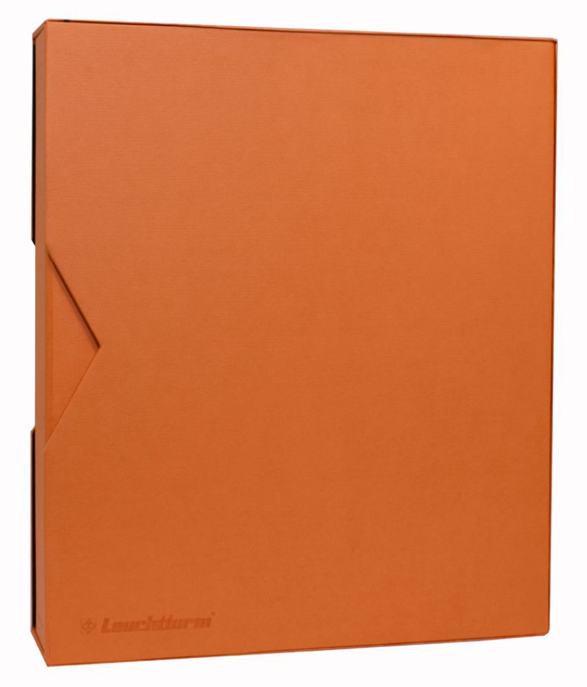 Lighthouse / Leuchtturm GRANDE PUR Ringbinder with Slipcase- Orange
