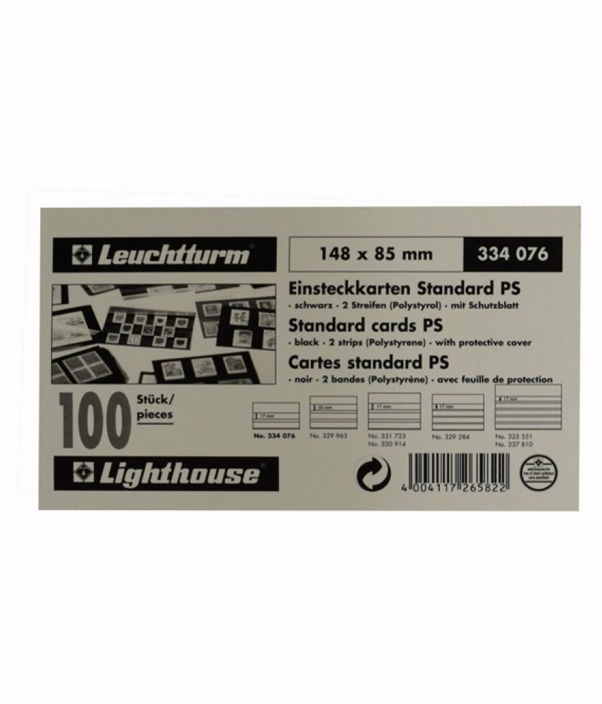 Lighthouse / Leuchtturm  Standard Cards- 2 Clear Strips with Cover Sheet- 100 per pack