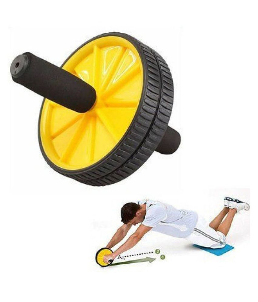 Unisex Ab Abdominal Roller For Home & Gym Workout Equipment to assist Sit Up Exercise Equipment Ab Roller Ab Exerciser .ab maker yellow colour