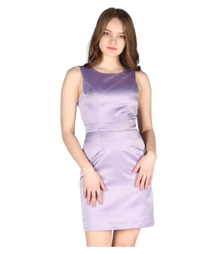 London Rag Polyester Purple Bodycon Dress