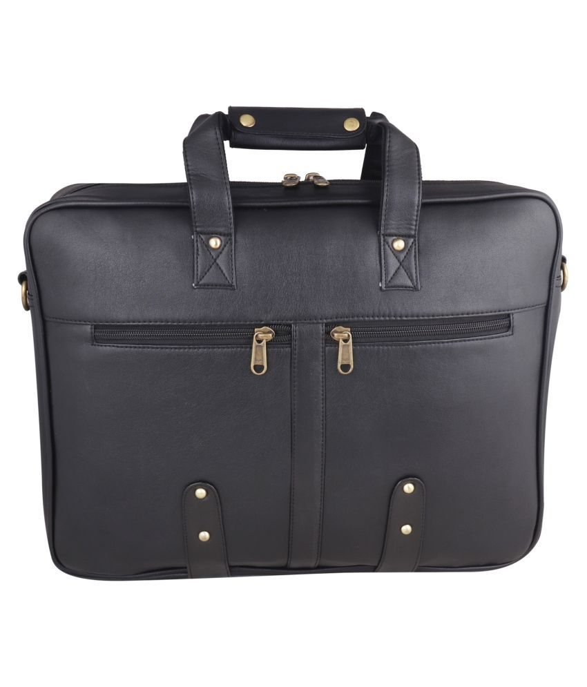 SW Super World Stylish Black Synthetic Casual Messenger Bag