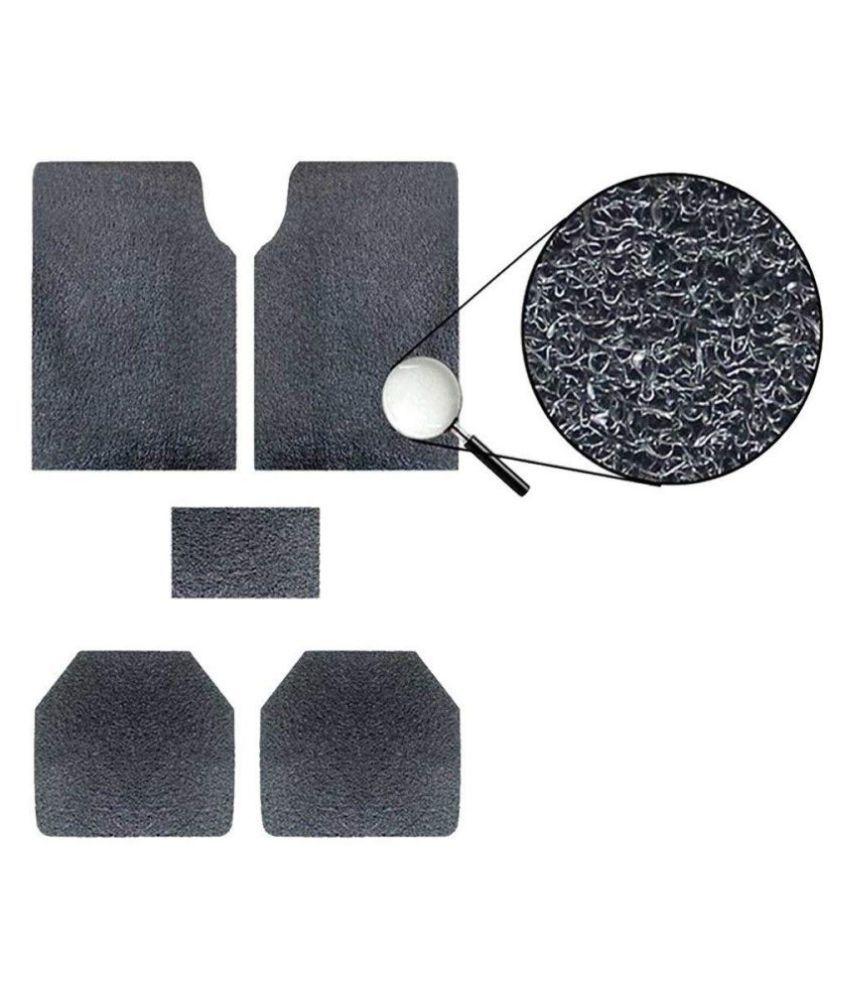Autofetch Car Anti Slip Noodle Floor Mats (Set of 5) Black for Toyota Innova Crysta