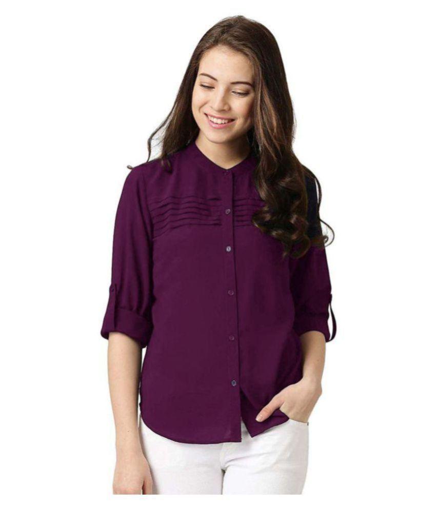 Yukon Purple Poly Crepe Shirt