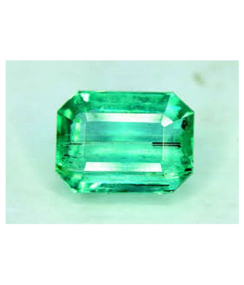 rare kind gems 7.25 -Ratti IGL&I Green Emerald Precious Gemstone
