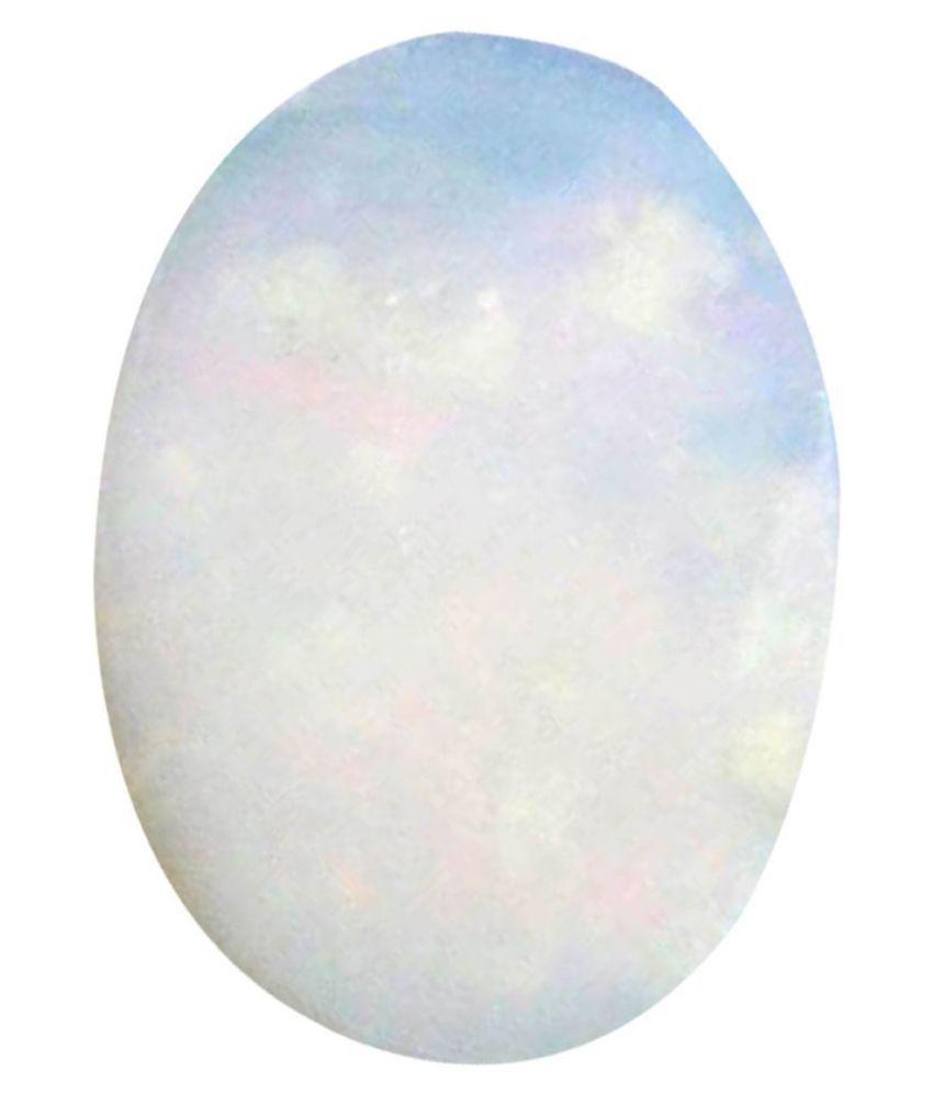 Tejvij And Sons 4.25 -Ratti Self certified White Opal Semi-precious Gemstone