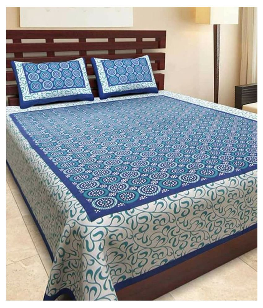 Stycloth Cotton Double Bedsheet with 2 Pillow Covers