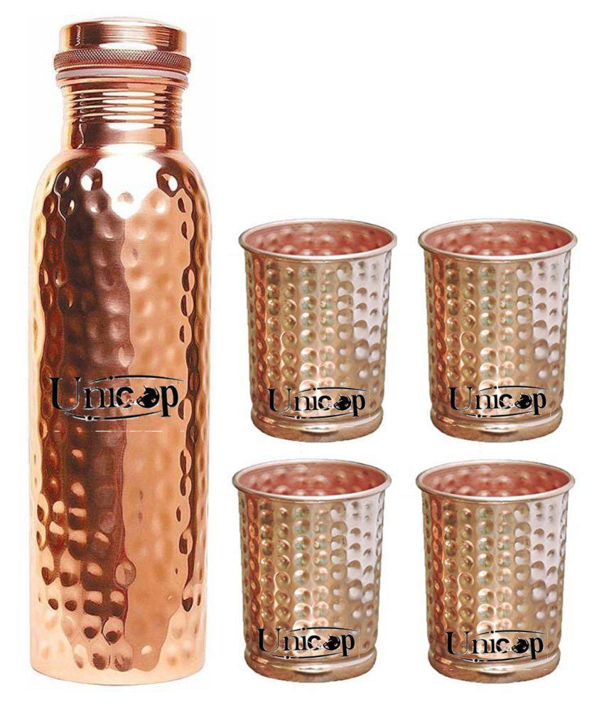 UNICOP Copper Bottle Gift 5 Pcs Lemon set