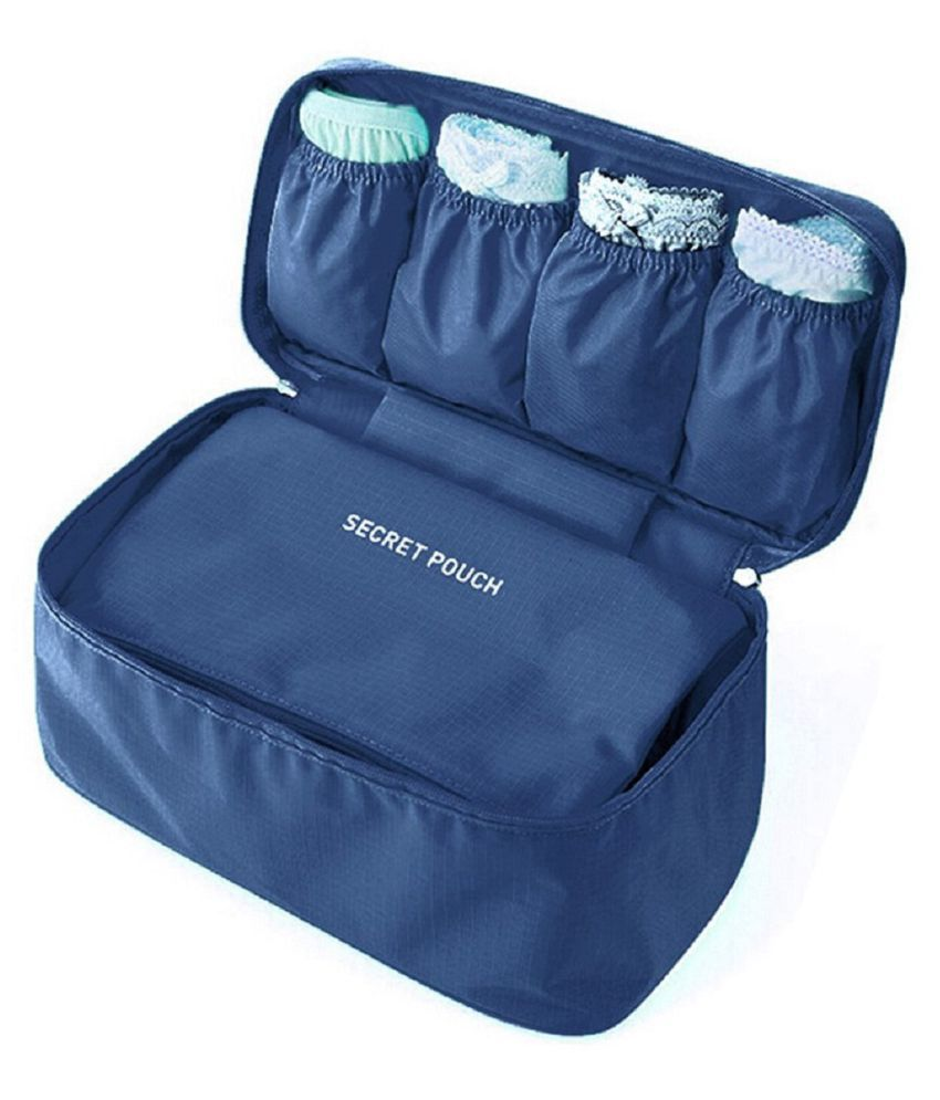 Everbuy Blue Multiutility Lingerie Pouch for Easy Travelling 2