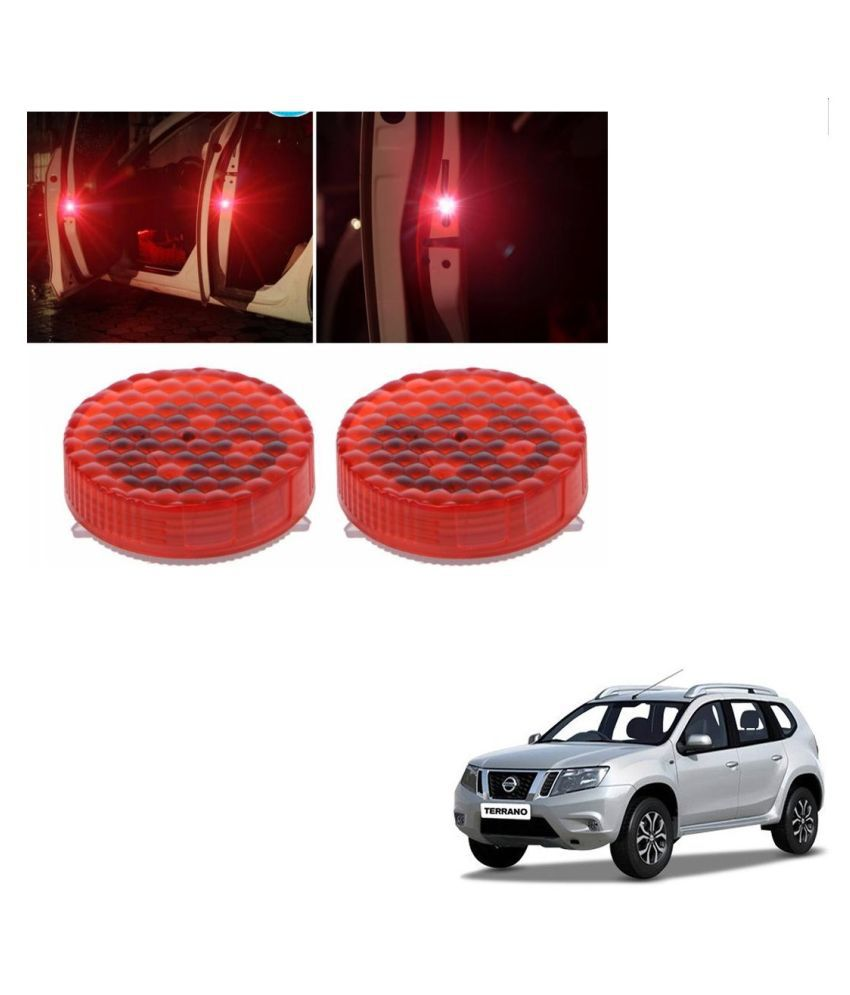 Auto Addict Waterproof 5 LED Wireless Car Door Warning Open Lights Indicator Decor Interior Flash Magnetic car led Lights for Anti Rear-End(RED) Free Batteries (2 Pair 4 pcs) For Nissan Terrano