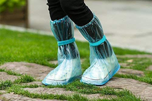 PVC Reusable Anti-Skid Overshoes with High Length Rain Shoes Cover