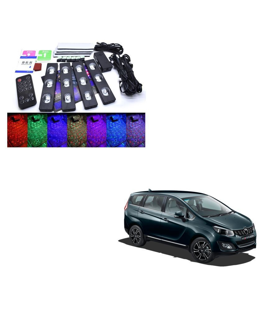 Auto Addict The Starlights Of Car Seat Bottom,7 Colors Lights,Breathing,Voice Ctrl,Create a Different Landscape in The Car For Mahindra Marazzo