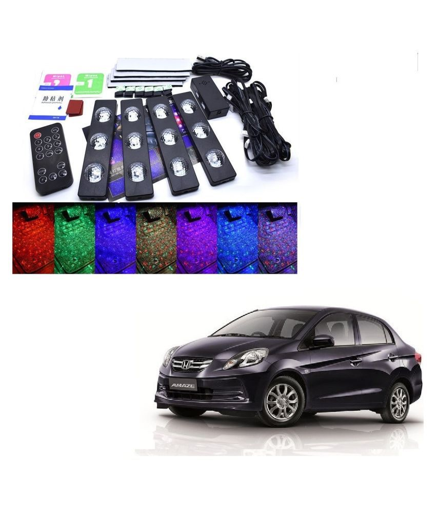 Auto Addict The Starlights Of Car Seat Bottom,7 Colors Lights,Breathing,Voice Ctrl,Create a Different Landscape in The Car For Honda Old Amaze (2013-2017)