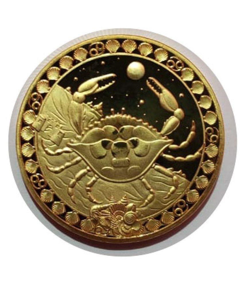Cancer Zodiac Gold Plated Collectible Coin Original Coins Set Holder