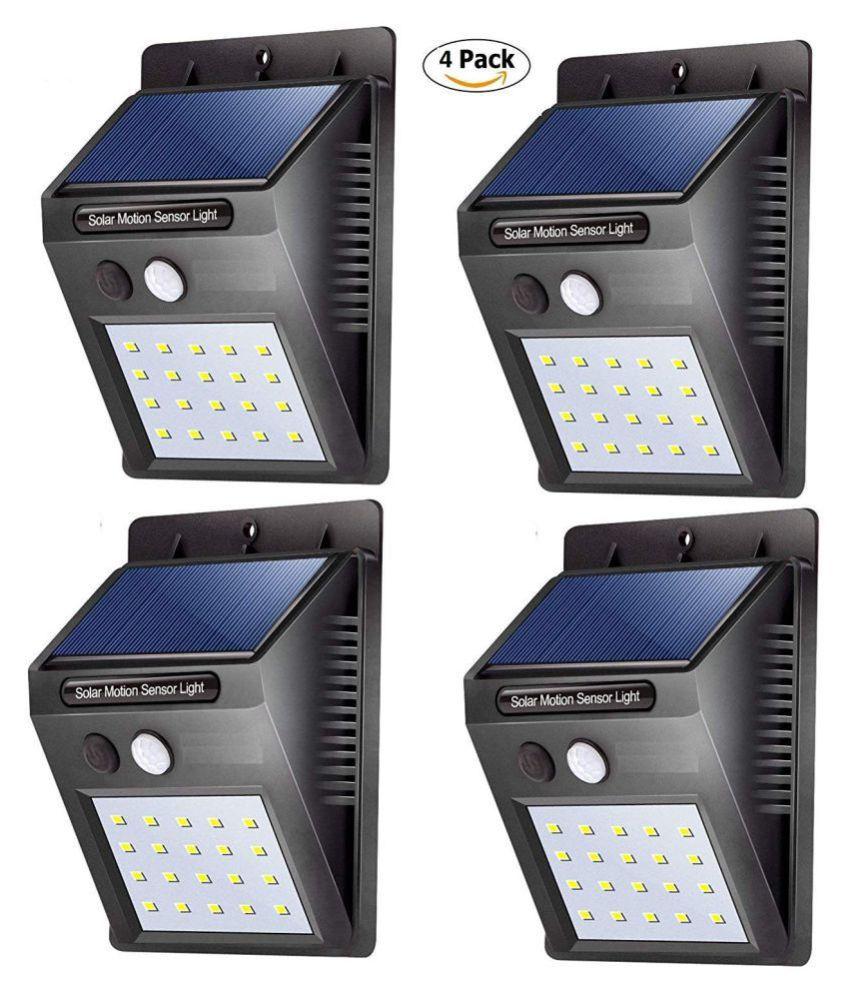 Nyalkaran 1W Solar Outdoor Wall Light - Pack of 4
