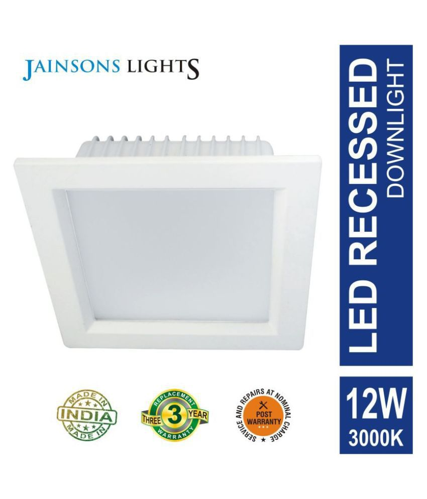 Jainsons Lights 12W Square Ceiling Light 10.5 cms. - Pack of 1