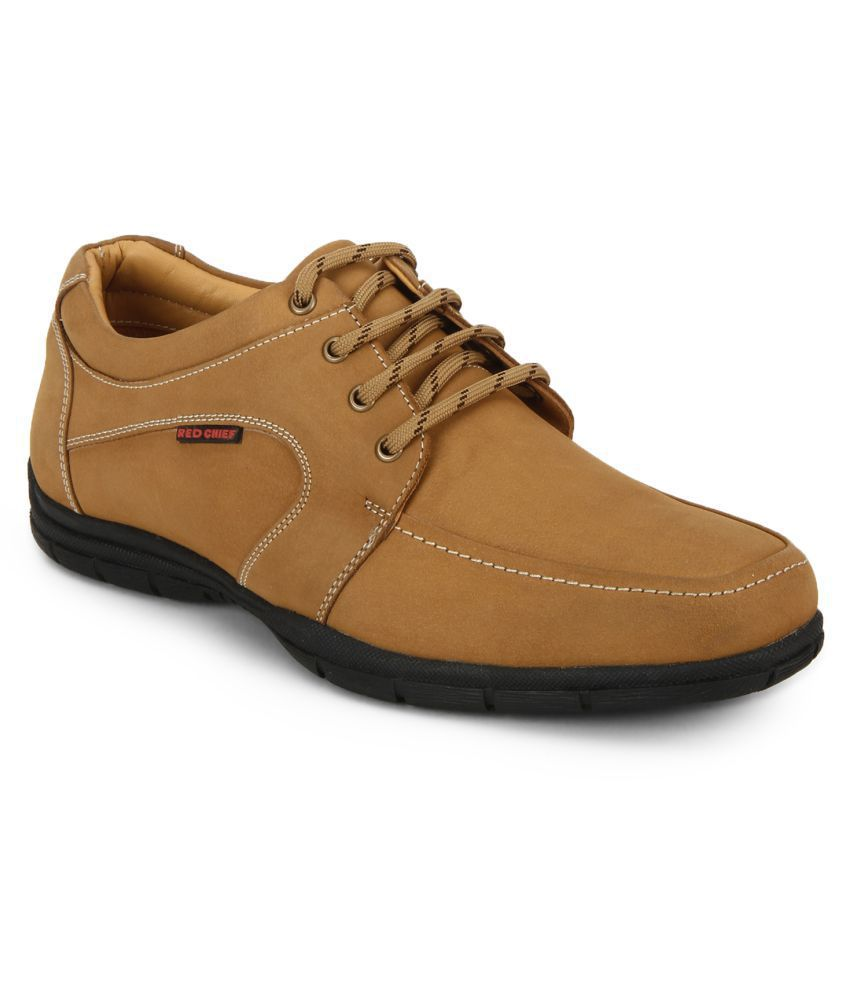 Red Chief Office Genuine Leather Rust Formal Shoes