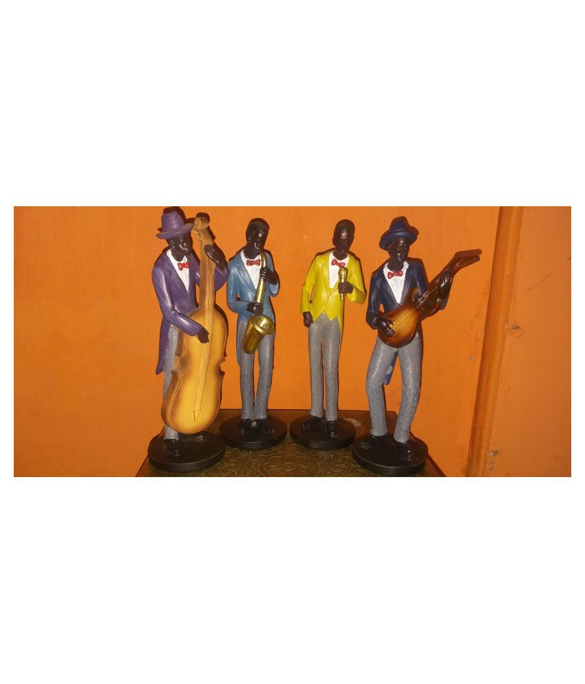 ANITHA DECORS Acrylic MUSICAL BAND SET OF 4 Wall Sculpture Assorted - Pack of 1