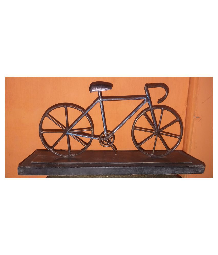 ANITHA DECORS Iron MODERN CLASSIC CYCLE Wall Sculpture Assorted - Pack of 1