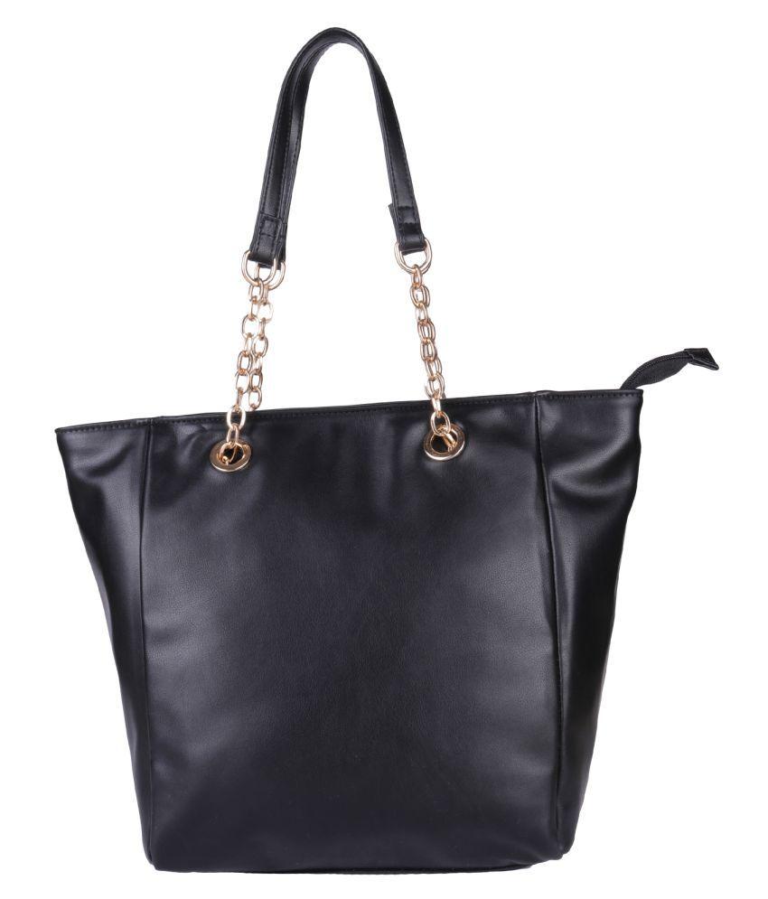 Antin Black Faux Leather Shoulder Bag
