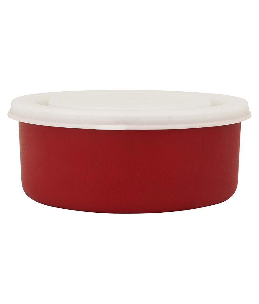 PM DÉCOR Red Stainless Steel Lunch Box