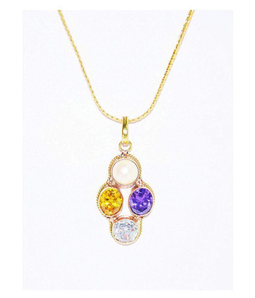 Gemini Zodiac Self Certified Multicolor 100% Original semi precious Gemstone Prosperity Pendant For Unisex