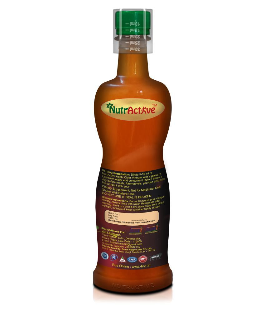 NutrActive Apple Cider Vinegar with 'Mother' 750 ml ...
