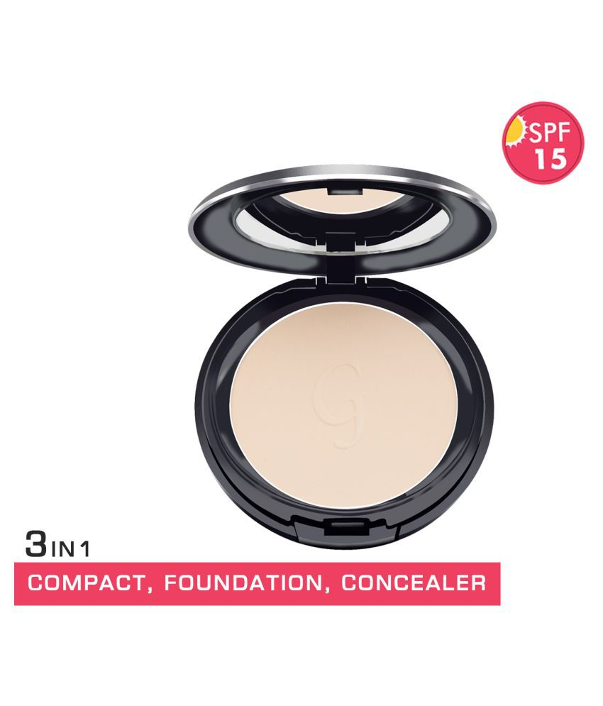 GlamGals 3 in1 Compact+Foundation+Concealer Retouching Powder Light SPF 15 14 g
