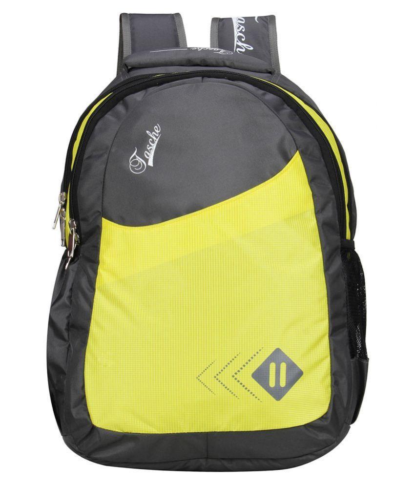 Tasche Yellow  amp; Black Stylish Travel Backpack