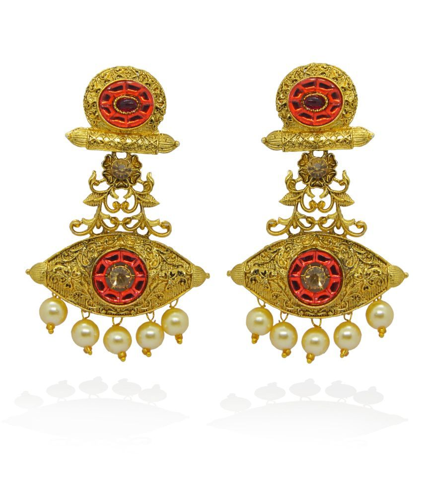 j. j. jewellers Traditional Copper Pearl Jhumka for Women and Girls