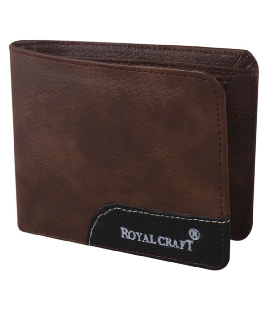 Royal Craft Leather Brown Casual Short Wallet