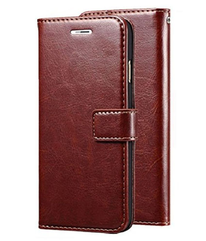 Xiaomi Redmi Y2 Flip Cover by KOVADO - Brown Original Leather Wallet