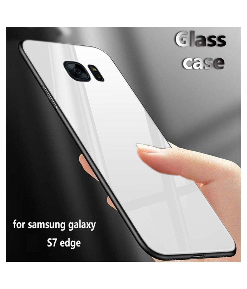Samsung Galaxy S7 Edge Mirror Back Covers Designer Hub   White