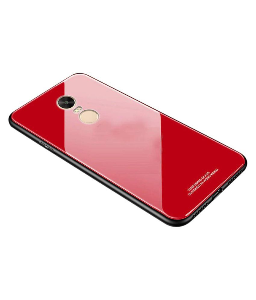 Xiaomi Redmi Note 4 Mirror Back Covers Designer Hub   Red