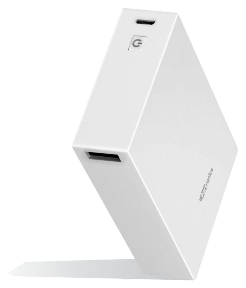 Portronics Power Box 10K 10000  mAh Li Polymer Power Bank White