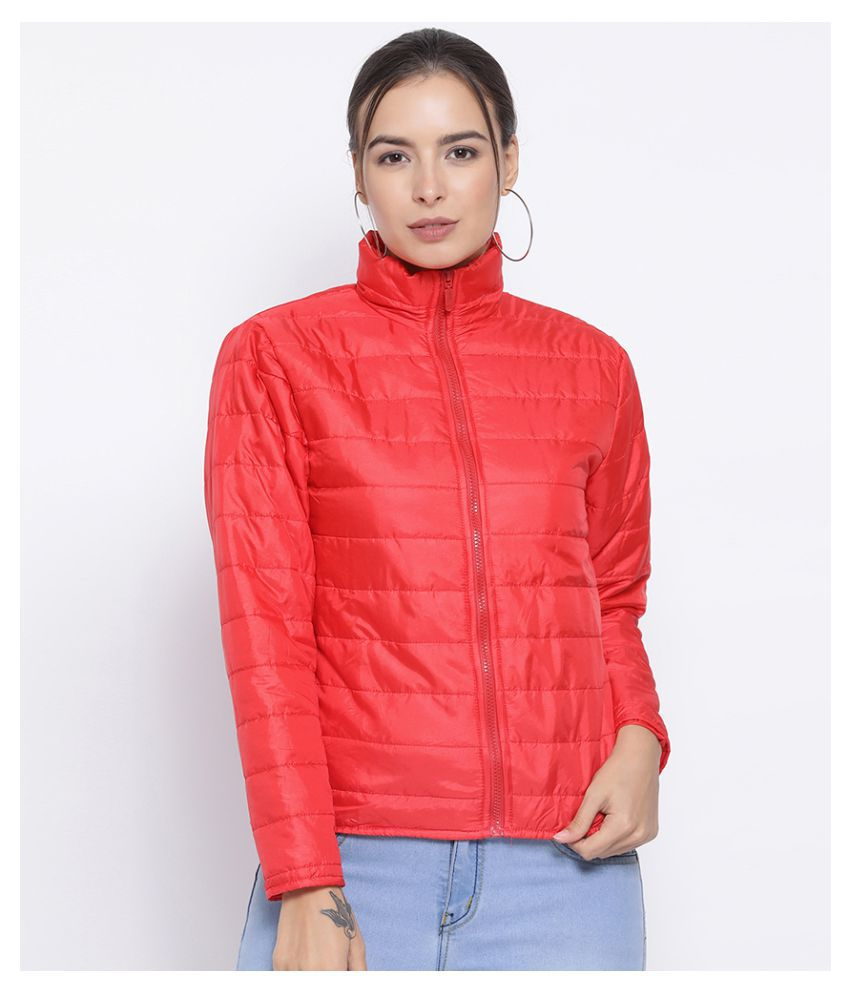 Oxolloxo Polyester Red Bomber Jackets
