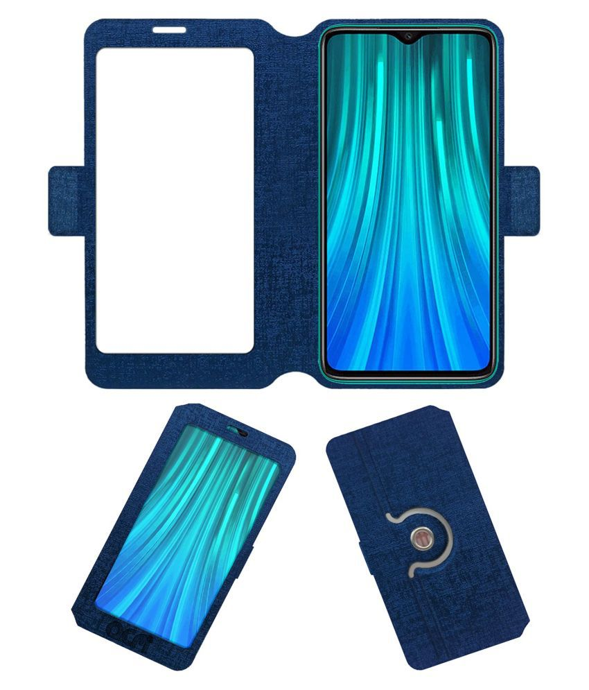 Xiaomi Redmi Note 8 Pro Flip Cover by ACM - Blue Dual Side Stand