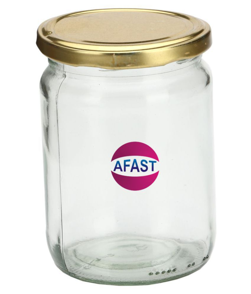AFAST Bx005 Glass Tea/Coffee/Sugar Container Set of 1 350 mL