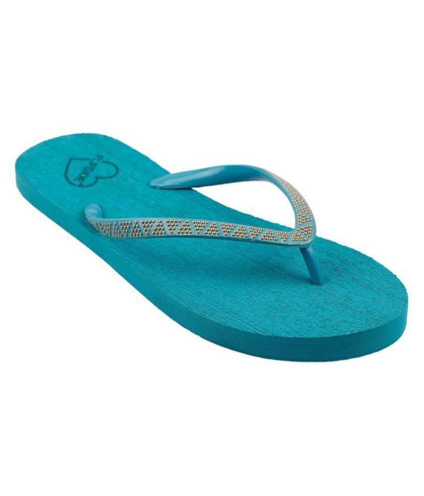 Flipside Blue Slippers