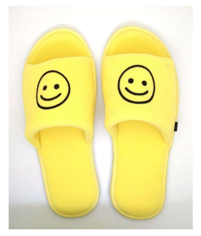 MF Yellow Emoji slippers