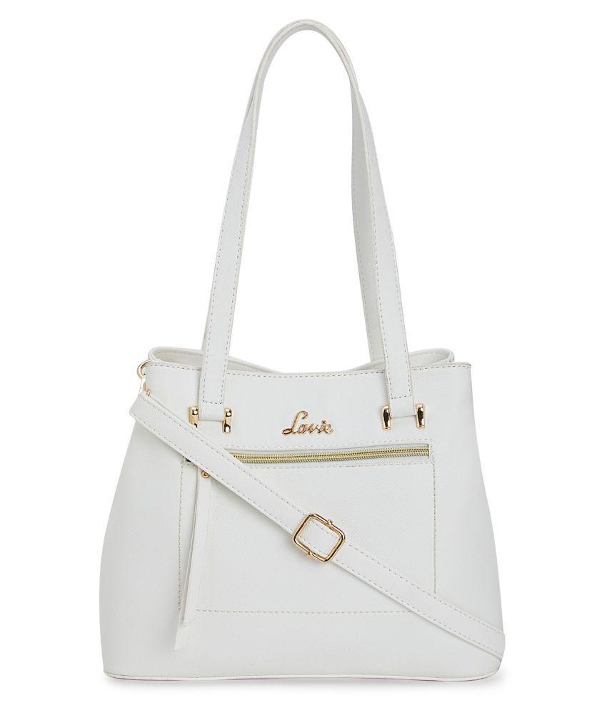 Lavie White P.U. Satchel Bag