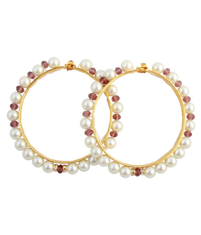 sharma pearls and jewellers MULTICOLOURS\nPearl Bangle Set