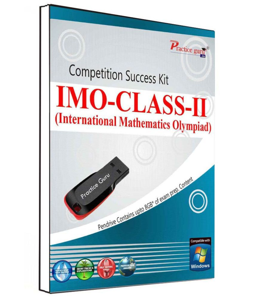 Practice Guru 90 Test 10 Mock Test,10 Previous Year Paper  for 2 Class IMO Exam  Pen Drive